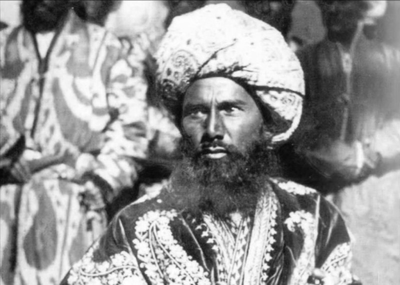 The Bukhara dignitary or sultan. 1876 - 1897. A photo of a member of Russian geographical society of the colonel of Leon Borschevskiy (1849 - 1910).