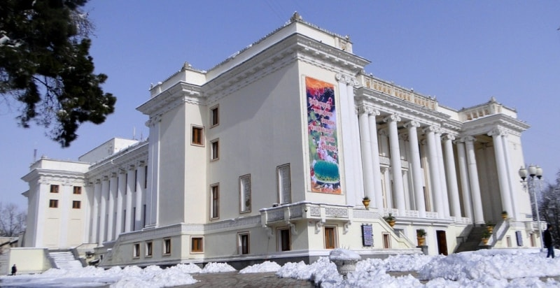Opera theatre in Dushanbe.