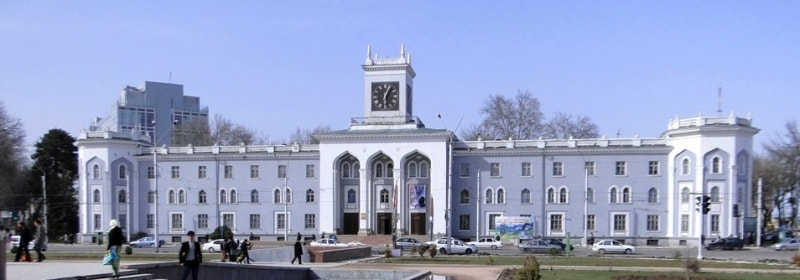 National historical museum in Dushanbe.