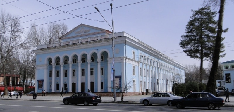 Drama theatre in Dushanbe.