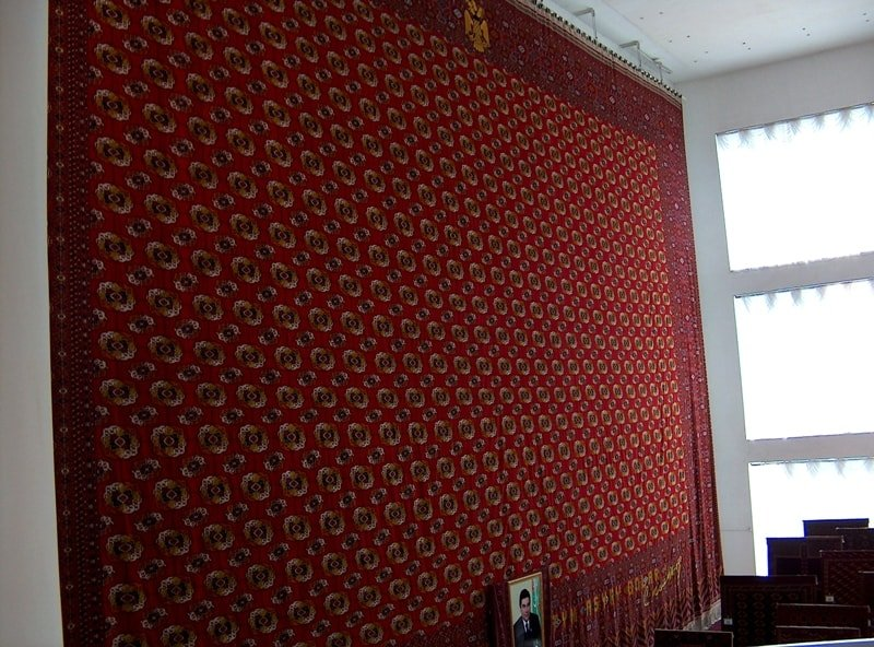 Museum of carpet in Ashgabad.