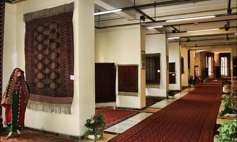 The museum of Turkmen carpet in Ashgabad.