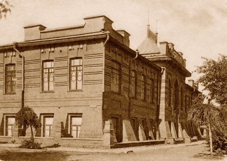 The building of a special construction for public library and a museum has begun on September 29th in 1902, and its solemn opening has taken place in 1904.
