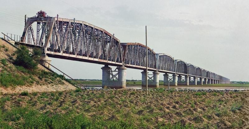 С. М. Прокудин-Горский. Аму-Дарьинский (Чарджуйский) жд мост.