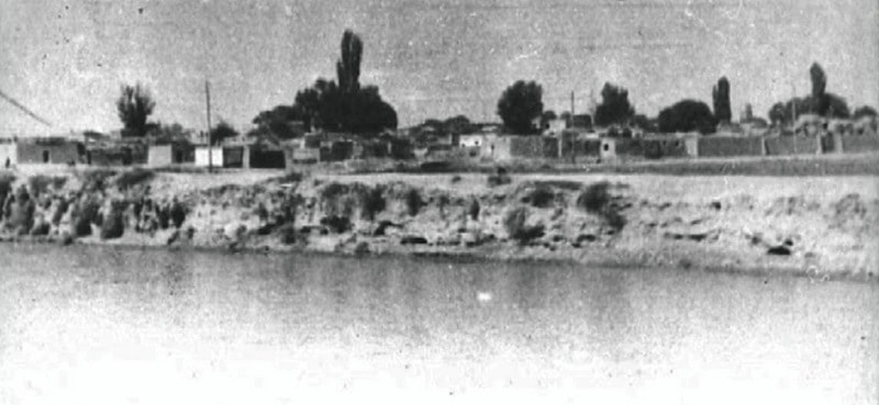 A general view of old Tashauz from the river bank Shavat. November, 1939.