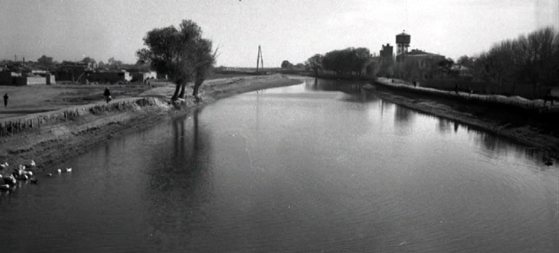 A view of the channel Shavat in Tashauz. November, 1954.