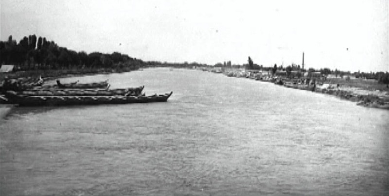 A general view on the canal Shavat about Kunya-Urgench. 1925