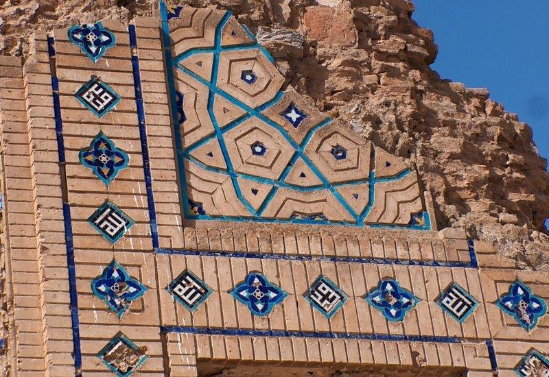Роспись на стене мечети Сейит Джемаледдина.