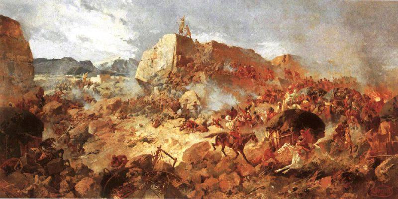 Рисунок «Штурм Геок-Тепе».