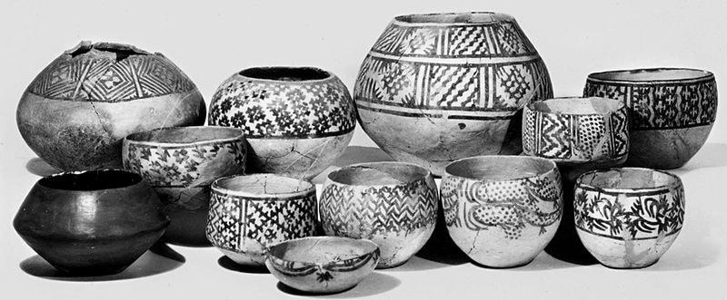 Расписная керамика из городища Кара-Депе. Эрмитаж., Санкт-Петербург.
