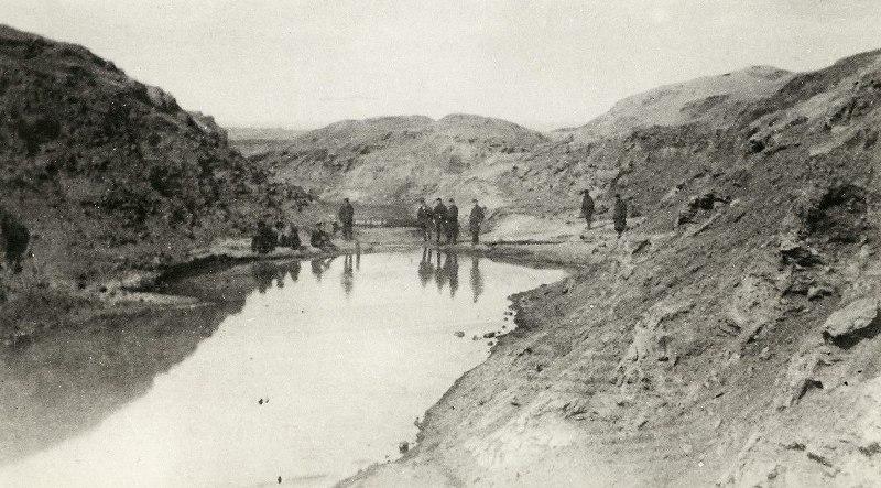 Озеро на Челекене. Балканский велаят. Фотография начала XX века.