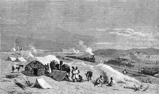 Пробный поезд Закаспийской военной железной дороги.