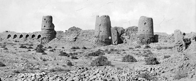 "Abdullakhan kala fortress. Photos an album Paul Nadar ""A travel from Turkey to Turkestan"". 1890"
