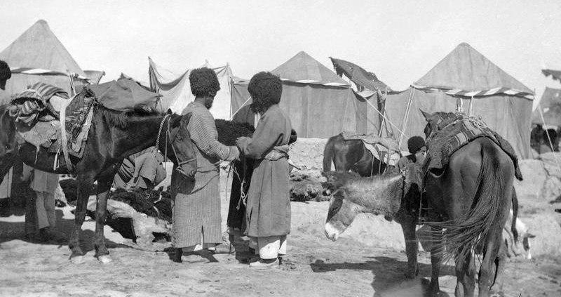 Военный лагерь. Начало XX века.