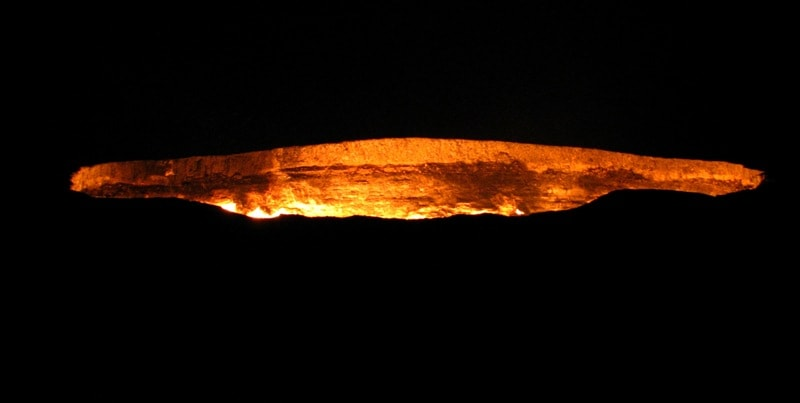 Gas crater Darvaza.