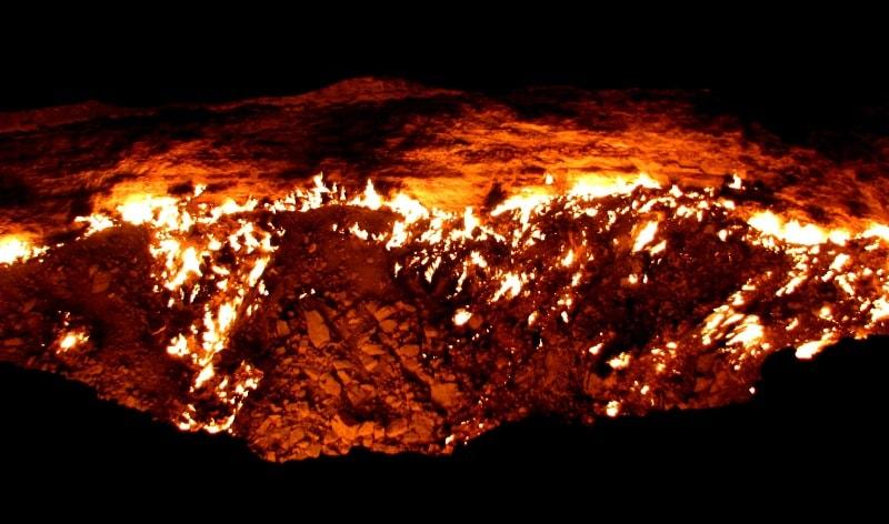 Дарваза газовый кратер.