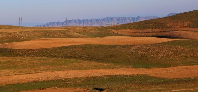 Поселок Байсун и его окрестности.