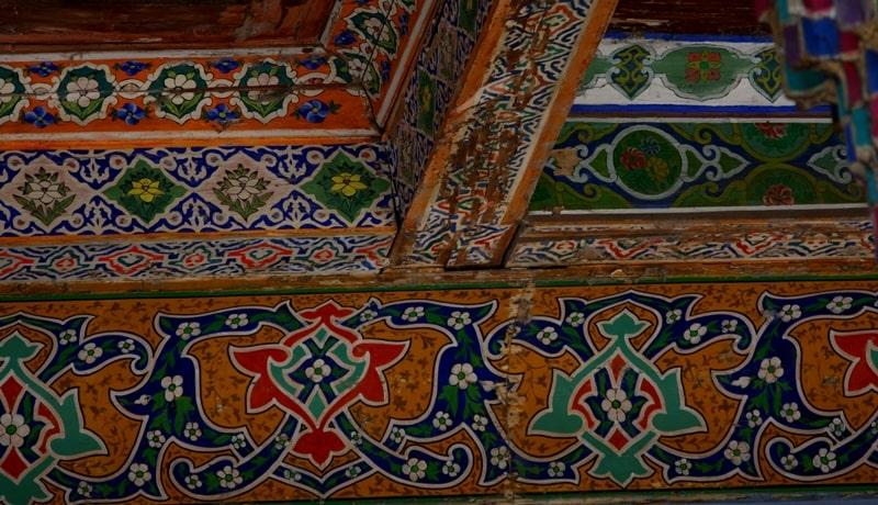 Росписи на потолке мечети Джума.