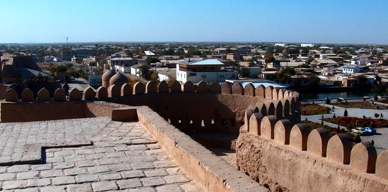 Ичан-Кала крепость в Хиве.