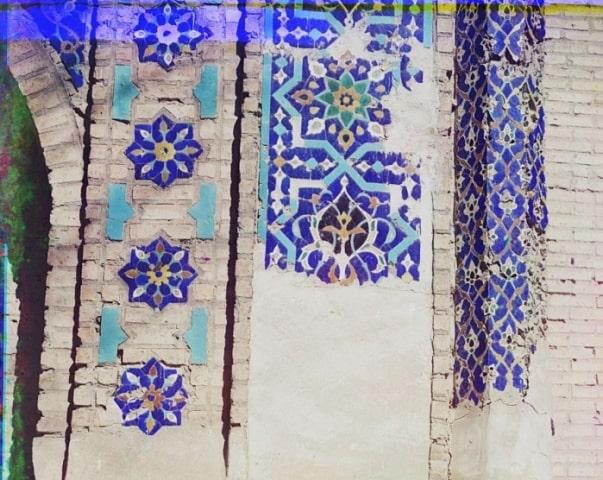 Деталь ворот с внутренней левой стороны. Мавзолей Гур-Эмир. Самарканд.