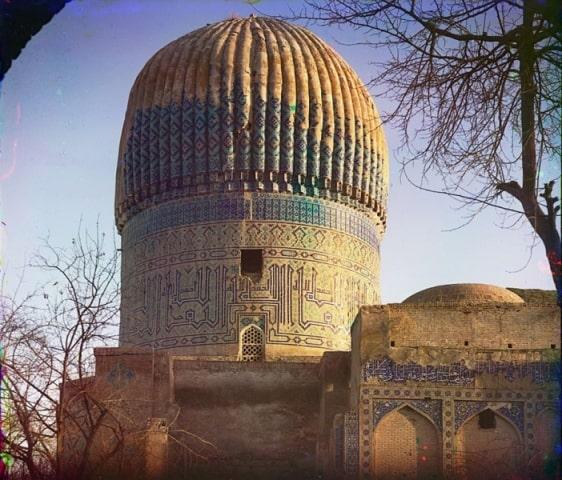 Купол мавзолея Гур-Эмир с восточной стороны. Самарканд.