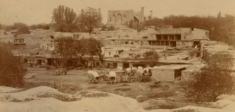 С. М. Прокудин-Горский. Вид на туземный Самарканд.