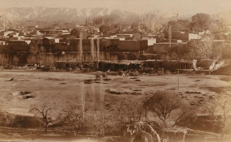 С. М. Прокудин-Горский. Самарканд. Вид на старый город от Шах-Зинде.