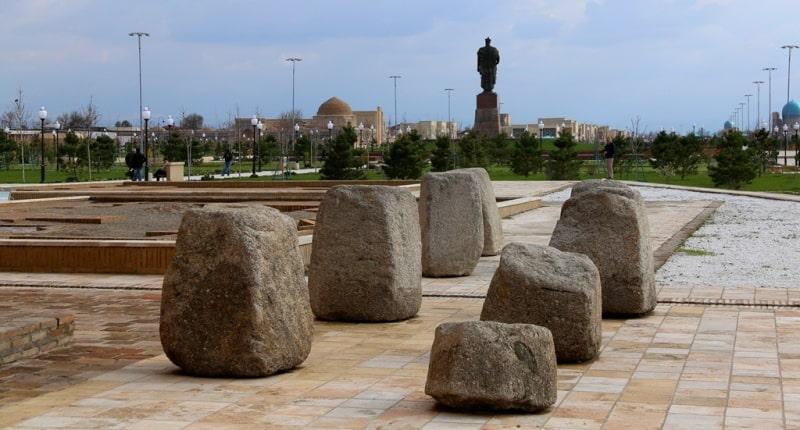 Ак-Сарай дворец в Шахрисабзе.