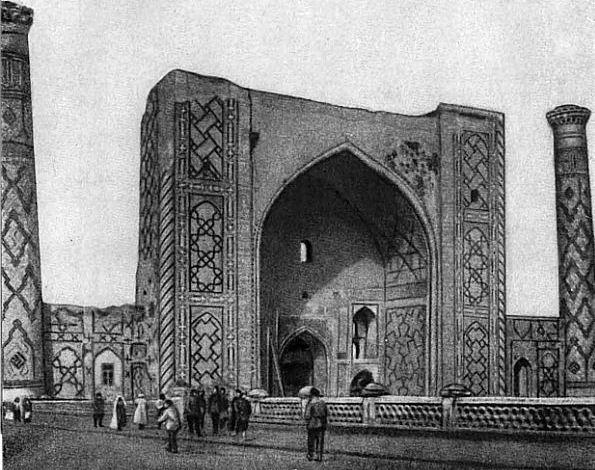 Когда-то в этом медресе на площади Регистан в Самарканде Улугбек читал лекции.