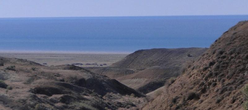 Aral Sea in Uzbekistan.