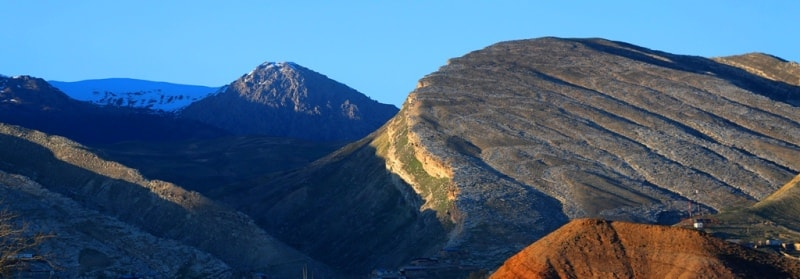 Mountain Baysuntau. Spurs of the Gissar Range.