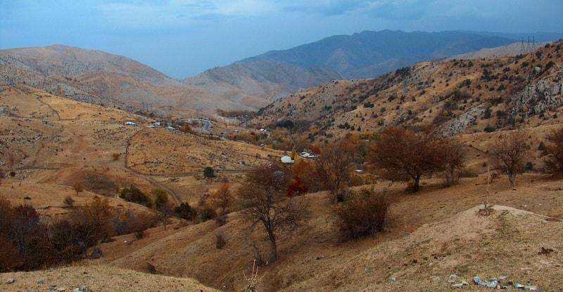 Zeravshan ridge. Vicinities of the pass Takhtarakcha.