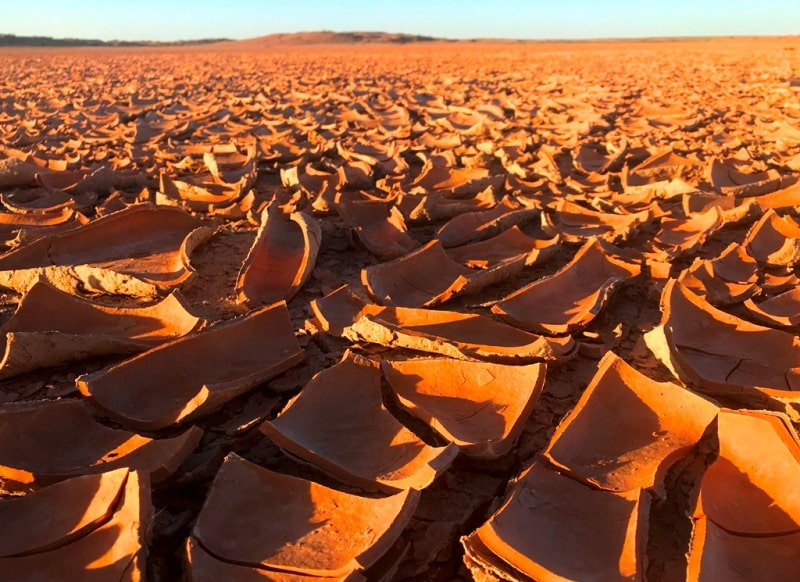 Takyr soil of Central Asia.