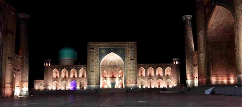 Architectural complex square Registan. Samarkand.