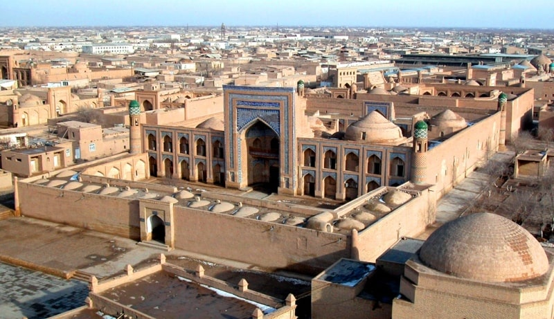 A view of the ancient city in Khiva