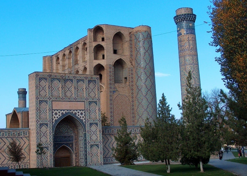 Bibi-hanum mosque in Samarkand.