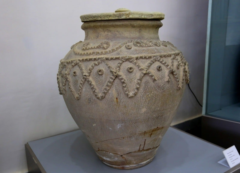 In the museum of archeology of Termez.