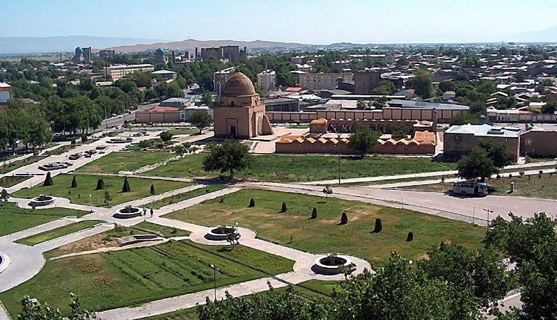 Samarkand from height of bird's flight.